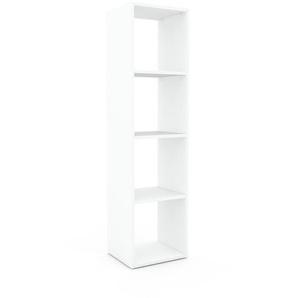 Bücherregal Weiß - Modernes Regal für Bücher: Hochwertige Qualität, einzigartiges Design - 41 x 157 x 35 cm, Individuell konfigurierbar