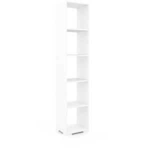 Bücherregal Weiß - Modernes Regal für Bücher: Hochwertige Qualität, einzigartiges Design - 41 x 196 x 35 cm, Individuell konfigurierbar