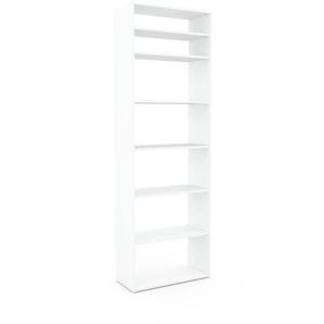 Bücherregal Weiß - Modernes Regal für Bücher: Hochwertige Qualität, einzigartiges Design - 77 x 233 x 35 cm, Individuell konfigurierbar