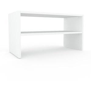 Bücherregal Weiß - Modernes Regal für Bücher: Hochwertige Qualität, einzigartiges Design - 77 x 41 x 35 cm, Individuell konfigurierbar