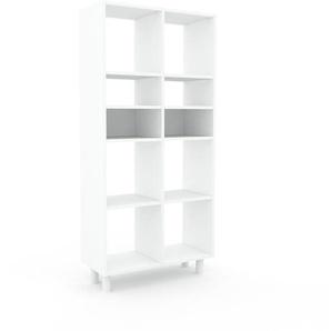 Bücherregal Weiß - Modernes Regal für Bücher: Hochwertige Qualität, einzigartiges Design - 79 x 168 x 35 cm, Individuell konfigurierbar
