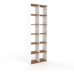 Bücherregal Weiß - Modernes Regal für Bücher: Hochwertige Qualität, einzigartiges Design - 79 x 233 x 35 cm, Individuell konfigurierbar