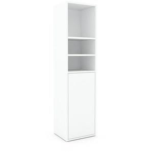 Bücherregal Weiß - Modernes Regal für Bücher: Türen in Weiß - 41 x 157 x 35 cm, Individuell konfigurierbar