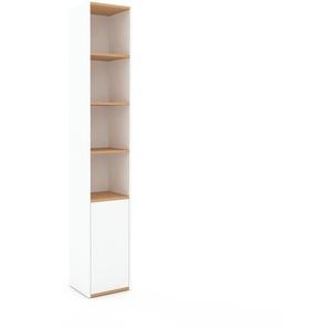 Bücherregal Weiß - Modernes Regal für Bücher: Türen in Weiß - 41 x 233 x 35 cm, Individuell konfigurierbar