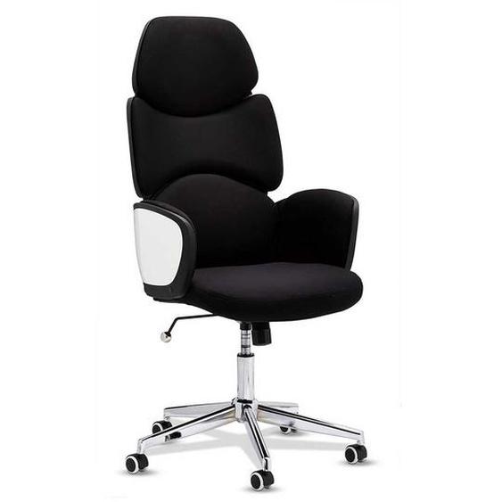 Bürodrehstuhl in Schwarz und Weiß hoher Lehne