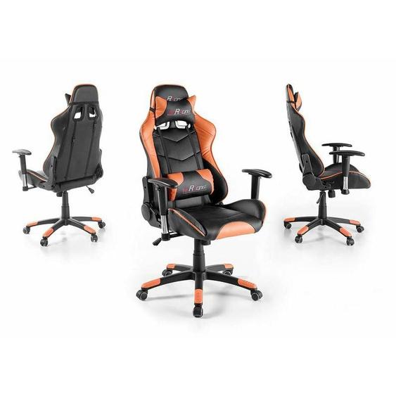 Bürostuhl Gaming Stuhl Mcracing Schwarz Orange