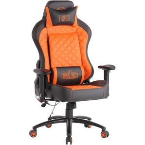 Bürostuhl Rapid XM Kunstleder-schwarz/orange - CLP
