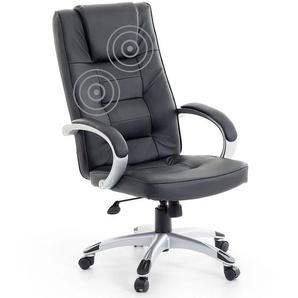 Bürostuhl schwarz Leder Massagefunktion Heizfunktion DIAMOND II