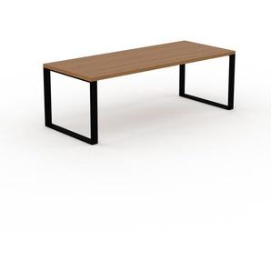 Bürotisch Massivholz Eiche, Holz - Moderner Massivholz-Bürotisch: Einzigartiges Design - 220 x 75 x 90 cm, konfigurierbar