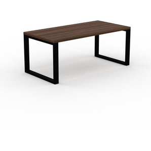 Bürotisch Massivholz Nussbaum, Holz - Moderner Massivholz-Bürotisch: Einzigartiges Design - 180 x 75 x 90 cm, konfigurierbar