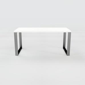 Bürotisch Massivholz Weiß - Moderner Massivholz-Bürotisch: Einzigartiges Design - 160 x 75 x 70 cm, konfigurierbar