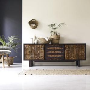 Buffet aus Teak 205 cm Sideboard Lowboard Massivholz
