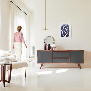 Buffet Lowboard 175 cm Wohnzimmer Sideboard Geschirrschrank 2 Schubladen 2 Türen