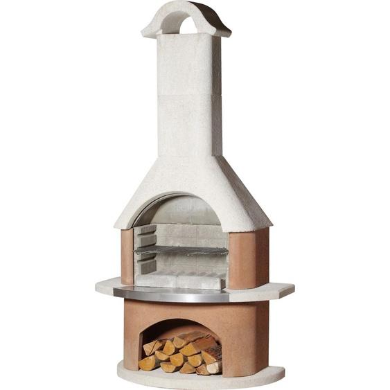 Buschbeck Grillkamin Davos, BxTxH: 110x65x210 cm B/H/T: 110 x 210 65 weiß Grill SOFORT LIEFERBARE Haushaltsgeräte