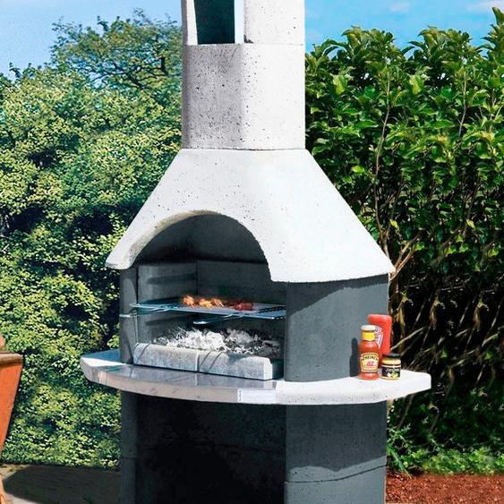 Buschbeck Grillkamin Salina, BxTxH: 110x65x206 cm B/H/T: 110 x 206 65 grau Grill SOFORT LIEFERBARE Haushaltsgeräte