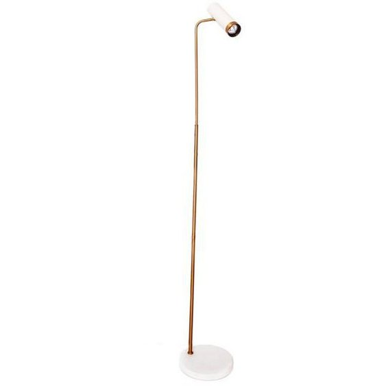 By-Rydens Stehleuchte , Weiß, Gold , Metall, Kunststoff , 157 cm