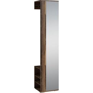 byLIVING Garderobenpaneel »Ben« (1 Stück), Breite 40 cm, mit Spiegel und Kleiderstange
