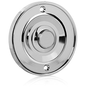 Byron DBW-21073 Klingelknopf - Unterputzmontage - Silber/Chromoptik