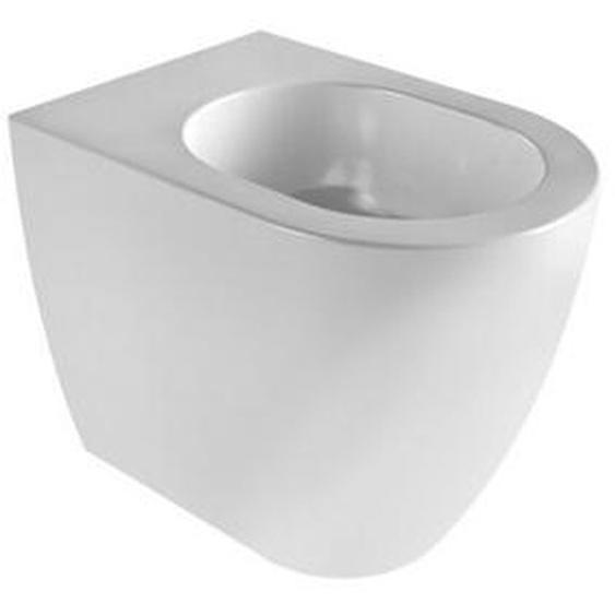 Boden-Bidet 36x53 cm aus keramik serie Sole | Glänzendes Weiß - Standard