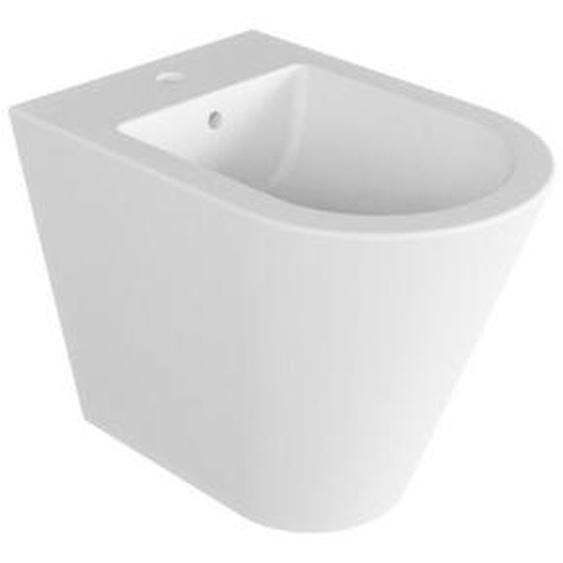 Boden-Bidet 37x54 cm aus keramik serie Luna | Glänzendes Weiß - Standard