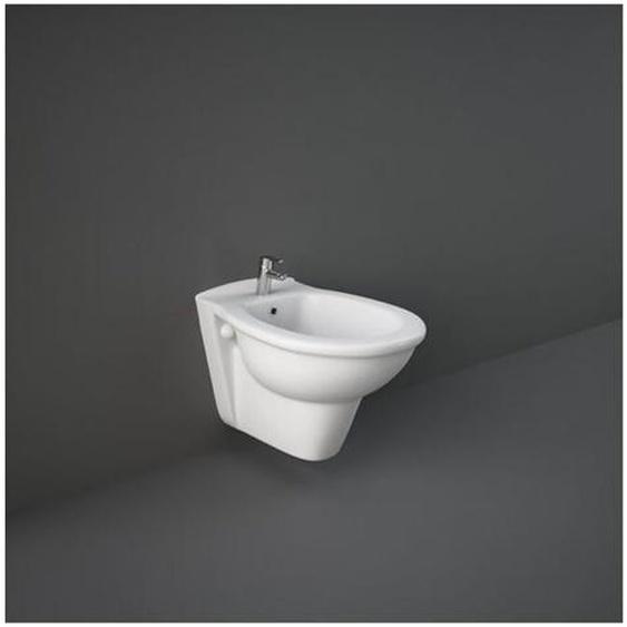 Hänge-Bidet aus keramik 36,5x55 cm serie Oxford | Glänzendes Weiß - Standard