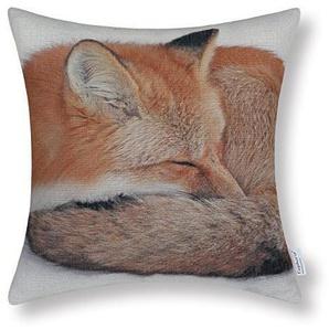 CaliTime Kissenbezug Kissen Shell 45cm X 45cm Wild Fox Schlafen