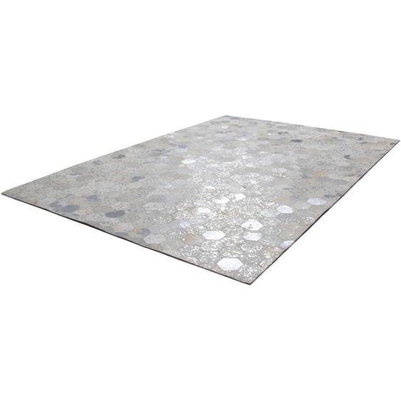 calo-deluxe Fellteppich Scarllet 210, rechteckig, 8 mm Höhe, echtes Rinderfell, Wohnzimmer B/L: 120 cm x 170 cm, 1 St. grau Wohnzimmerteppiche Teppiche nach Räumen