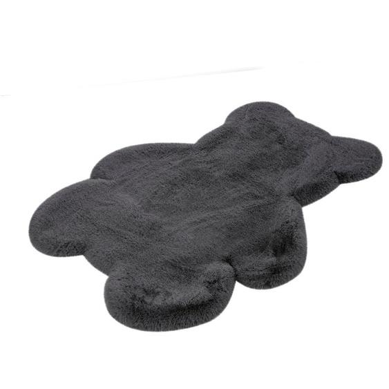 calo-deluxe Kinderteppich Kids-850, Motivform, 36 mm Höhe, Kunstfell, Motiv Teddy 41, 73x90 cm, grau Shaggy-Teppiche Hochflor-Teppiche Teppiche