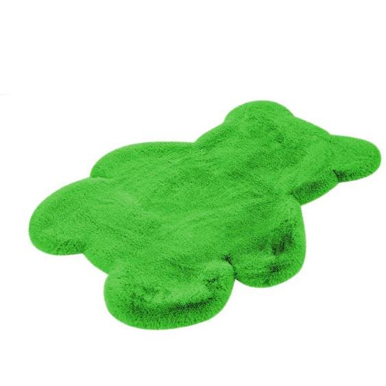 calo-deluxe Kinderteppich Kids-850, Motivform, 36 mm Höhe, Kunstfell, Motiv Teddy 41, 73x90 cm, grün Shaggy-Teppiche Hochflor-Teppiche Teppiche