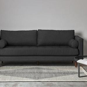 Camden Teppich (160 x 230 cm), Schwarz und Dunkelweiss