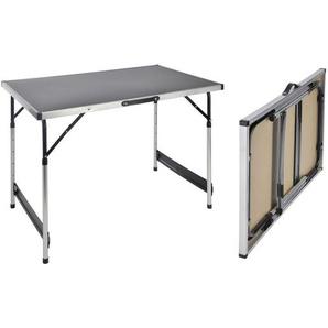 : Tisch, Alu, Schwarz, B/H/T 60 75-90 100