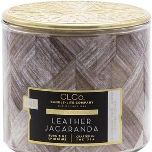 Candle-lite™ Duftkerze No. 45, CLCo - Holzdocht - Leather Jacaranda, (1-tlg.)