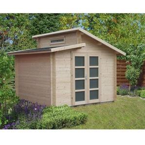 Carlsson Gartenhaus aus Holz Aktiva , ohne Imprägnierung , ohne Farbbehandlung , Imprägnierung ab Werk:ohne Imprägnierung|Wandstärke:28 mm