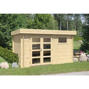 Carlsson - Gartenhaus aus Holz Emma , ohne Imprägnierung , ohne Farbbehandlung , Ohne Schutz-Imprägnierung:Ohne Schutz-Imprägnierung|Wandstärke:28 mm Wandstärke