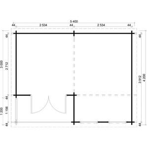 Carlsson - Gartenhaus aus Holz Modell Orkus-44 , mit Imprägnierung , Ohne Schutz-Imprägnierung:Mit Imprägnierung (Pinie)