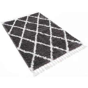 Hochflor-Teppich, carpetfine, rechteckig, Höhe 30 mm