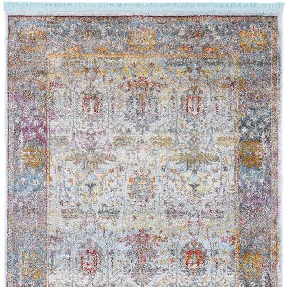 carpetfine Teppich Mala, rechteckig, 8 mm Höhe, Vintage Look, Wohnzimmer B/L: 240 cm x 340 cm, 1 St. gelb Schlafzimmerteppiche Teppiche nach Räumen