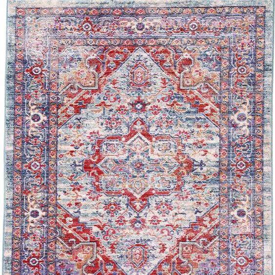 carpetfine Teppich Phoenix, rechteckig, 6 mm Höhe, Vintage Look, Wohnzimmer B/L: 160 cm x 230 cm, 1 St. blau Schlafzimmerteppiche Teppiche nach Räumen