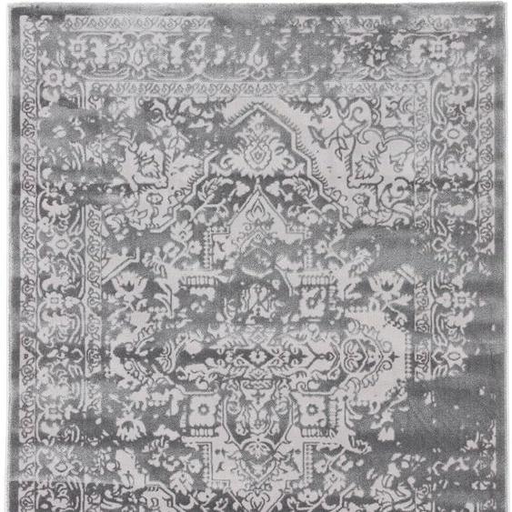 carpetfine Teppich Select, rechteckig, 8 mm Höhe, Vintage Look, Wohnzimmer B/L: 160 cm x 230 cm, 1 St. grau Esszimmerteppiche Teppiche nach Räumen