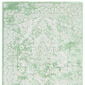 carpetfine Teppich Select, rechteckig, 8 mm Höhe, Vintage Look, Wohnzimmer B/L: 200 cm x 290 cm, 1 St. grün Esszimmerteppiche Teppiche nach Räumen