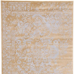 carpetfine Teppich Select, rechteckig, 8 mm Höhe, Vintage Look, Wohnzimmer B/L: 240 cm x 340 cm, 1 St. goldfarben Esszimmerteppiche Teppiche nach Räumen