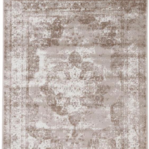 carpetfine Teppich Sol, rechteckig, 8 mm Höhe, Vintage Look, Wohnzimmer B/L: 240 cm x 340 cm, 1 St. braun Schlafzimmerteppiche Teppiche nach Räumen