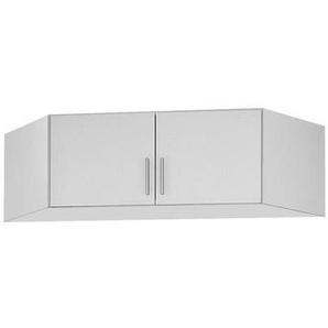 Carryhome Aufsatzschrank 117/39/117 cm Weiß , Kunststoff , 117x39x117 cm
