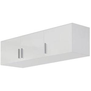 Carryhome Aufsatzschrank 136/39/54 cm Weiß , Kunststoff , 136x39x54 cm