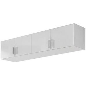 Carryhome Aufsatzschrank 181/39/54 cm Weiß , Kunststoff , 181x39x54 cm