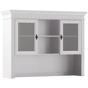 Carryhome Aufsatzschrank , Weiß , Holz , Kiefer , massiv , 3 Fächer , 134x104x37.5 cm , Schlafzimmer, Kleiderschränke, Mehrzweckschränke