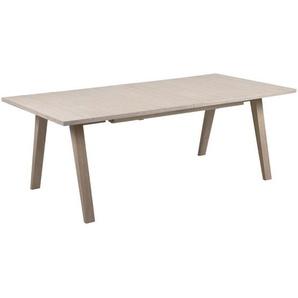 Carryhome Ausziehtisch , Eiche , Holz , Eiche , furniert, massiv , rechteckig , eckig , 100x74 cm , ausziehbar , Esszimmer, Tische, Esstische