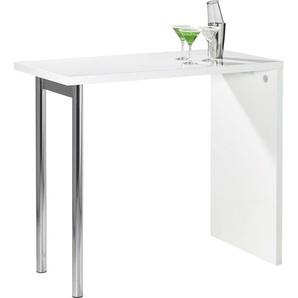 Carryhome: Tisch, Chrom, Weiß, B/H/T 60 105 120