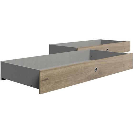 Carryhome Bettschubkasten 141/20/61 cm Braun , Kunststoff , 141x20x61 cm