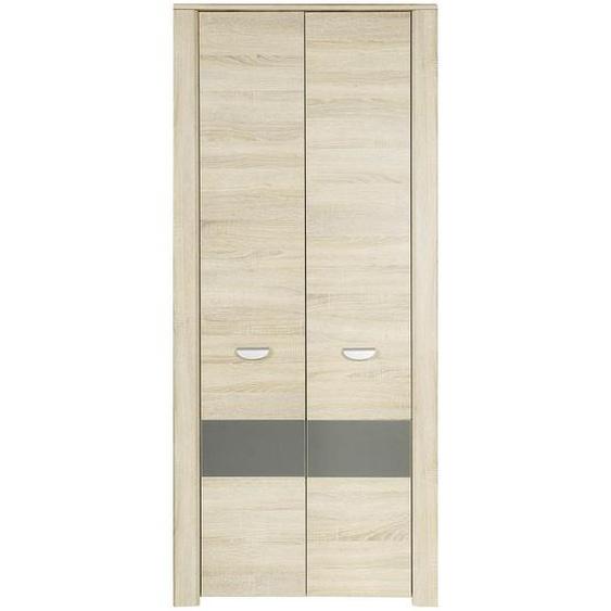 Carryhome Drehtürenschrank , Braun , Holzwerkstoff , 1 Fächer , 94x194x58 cm